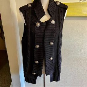 Style and co sweater vest sergeant pepper sz 1X